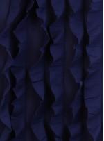 Fırfır Desenli Örme Lacivert Kumaş - K3240