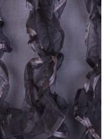 Gri Saçaklı Tül Kumaş - K3252