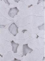 Lazer Kesimli Yaprak Desenli Kemik Kumaş - K3260