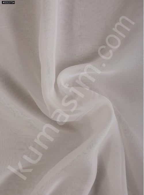 Elbiselik Ekru Polyester İpeksi Şifon Kumaş - K3339