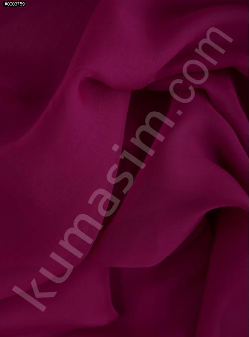 Elbiselik Fuşya Polyester İpeksi Şifon Kumaş - K3339