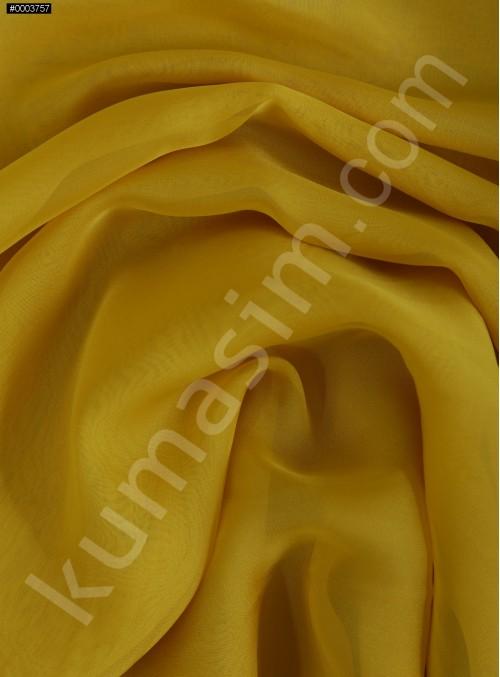 Elbiselik Hardal Polyester İpeksi Şifon Kumaş - K3339