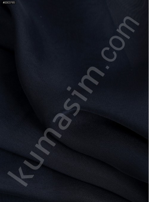 Elbiselik Lacivert Polyester İpeksi Şifon Kumaş - K3339
