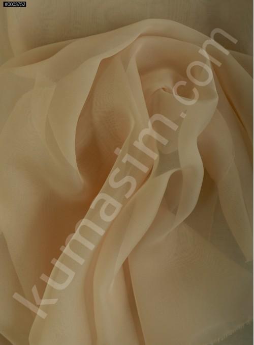 Elbiselik Pudra Polyester İpeksi Şifon Kumaş - K3339