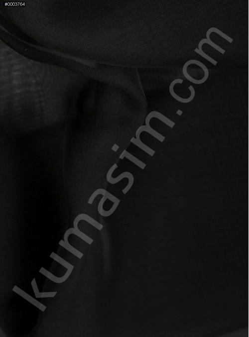 Elbiselik Siyah Polyester İpeksi Şifon Kumaş - K3339