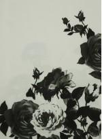 Elbiselik Desenli Siyah Dupont Saten Kumaş - K3361