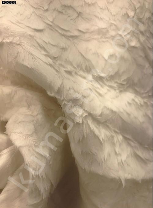 Kuş Tüyü Desenli Siyah Ceketlik ve Kabanlık Astragan Kürk Kumaş - K3418