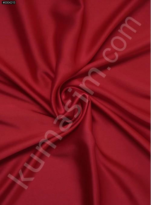 Elbiselik Polyester Fransız Kırmızı Likra Saten Kumaş - 3432