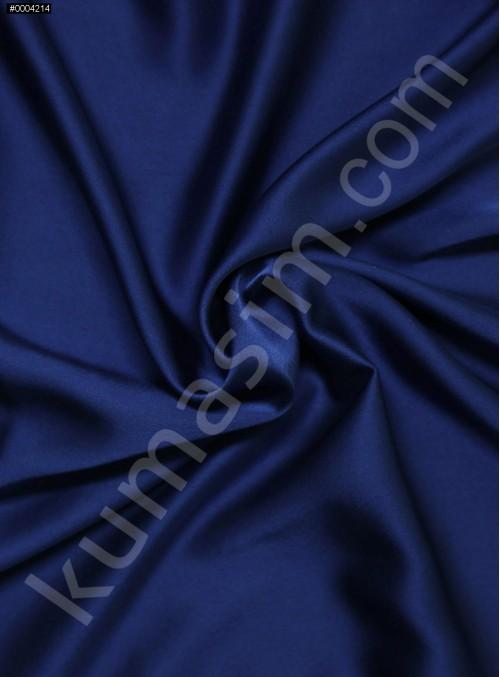 Elbiselik Polyester Fransız Saks Likra Saten Kumaş - 3432