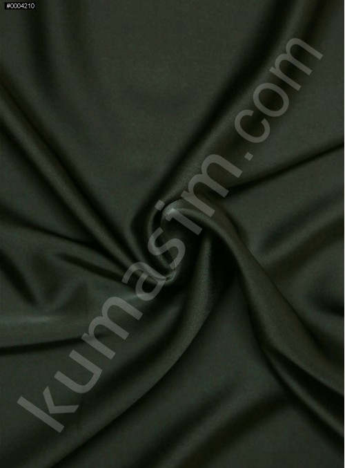 Elbiselik Polyester Fransız Siyah Likra Saten Kumaş - 3432