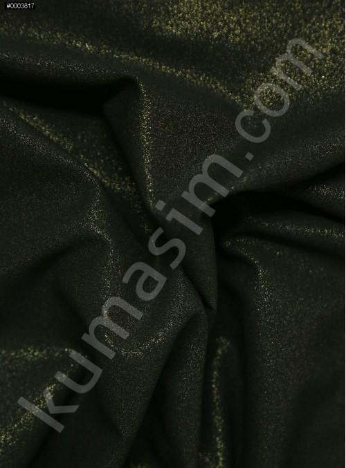 Abiye Elbiselik Siyah - Gold Laklı Krep Kumaş - K3436