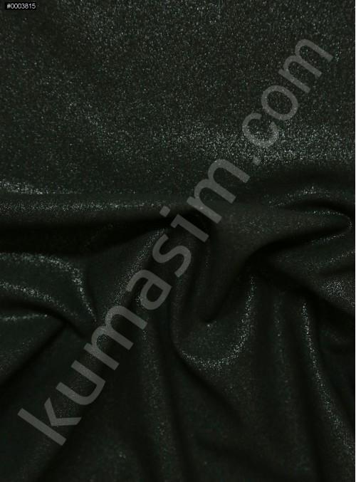 Abiye Elbiselik Siyah - Gümüş Laklı Krep Kumaş - K3436