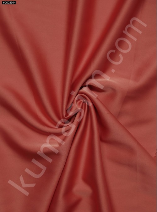 Elbiselik İpeksi Mercan (Coral) Likra Saten Kumaş - 3437