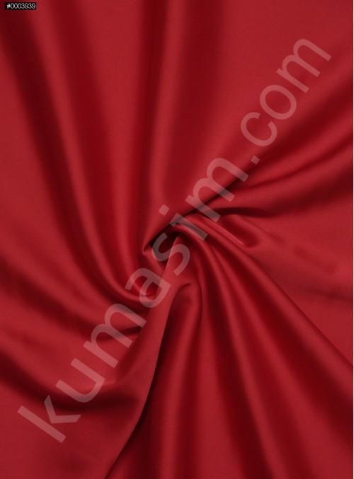 Elbiselik İpeksi Mercan Likra Saten Kumaş - 3437