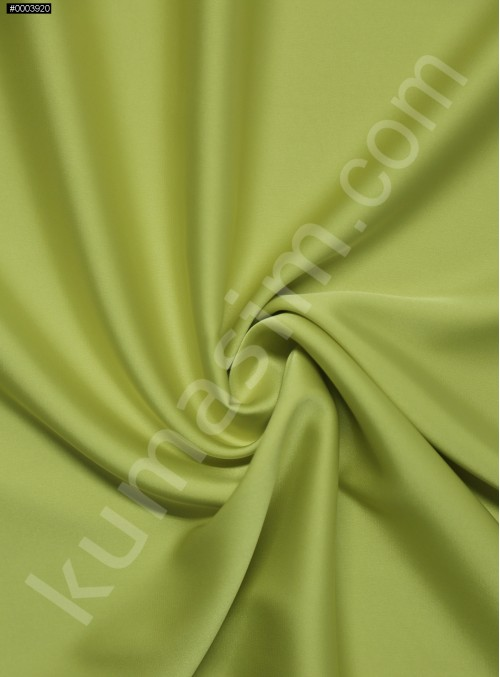 Elbiselik İpeksi Neon Yeşil Likra Saten Kumaş - 3437