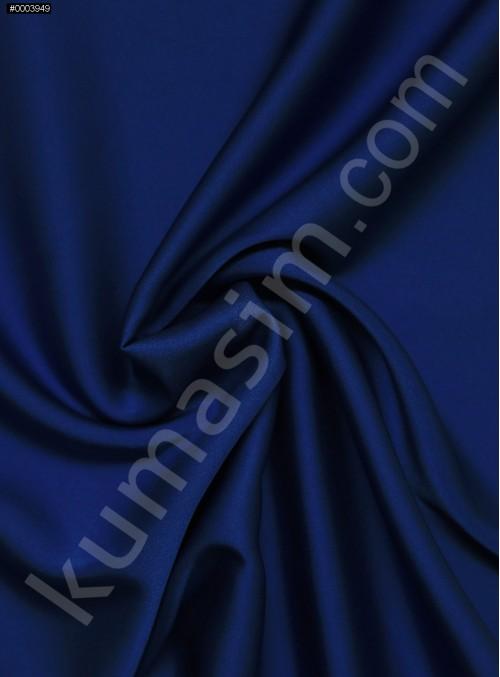 Elbiselik İpeksi Saks Likra Saten Kumaş - 3437