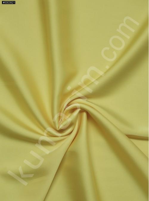 Elbiselik İpeksi Sarı Likra Saten Kumaş - 3437