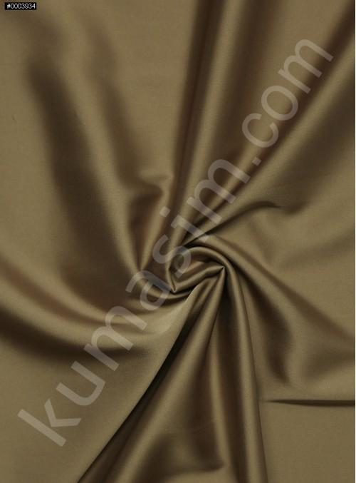 Elbiselik İpeksi Toprak Likra Saten Kumaş - 3437