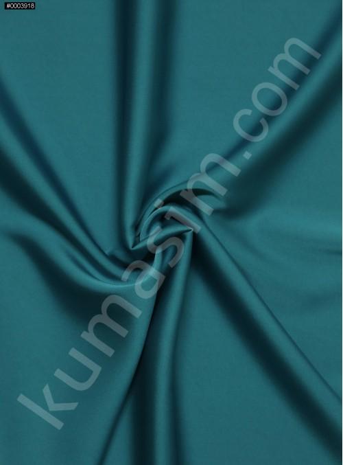 Elbiselik İpeksi Turkuaz Likra Saten Kumaş - 3437
