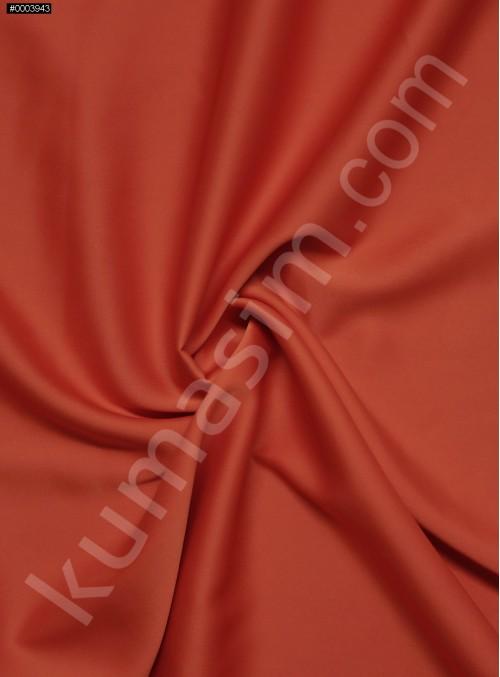 Elbiselik İpeksi Turuncu Likra Saten Kumaş - 3437