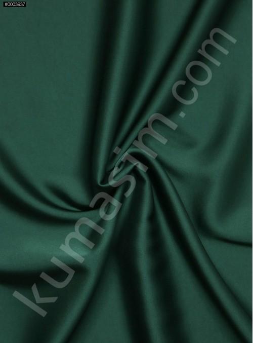 Elbiselik İpeksi Yeşil Likra Saten Kumaş - 3437