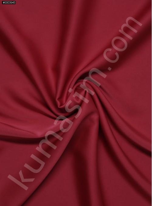 Elbiselik İpeksi Açık Kırmızı Likra Saten Kumaş - 3437