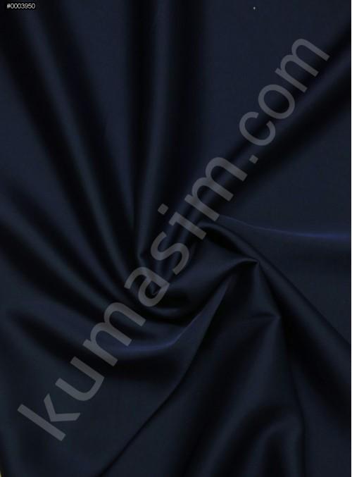 Elbiselik İpeksi Açık Lacivert Likra Saten Kumaş - 3437