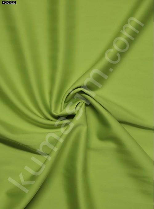 Elbiselik İpeksi Fıstık Yeşili Likra Saten Kumaş - 3437