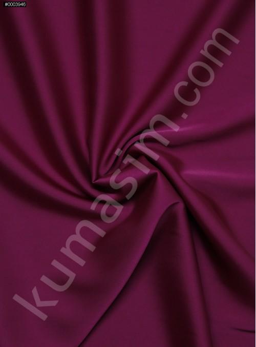 Elbiselik İpeksi Fuşya Likra Saten Kumaş - 3437