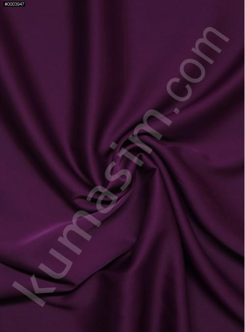 Elbiselik İpeksi Koyu Fuşya Likra Saten Kumaş - 3437