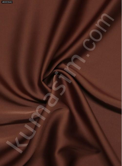 Elbiselik İpeksi Koyu Kiremit Likra Saten Kumaş - 3437