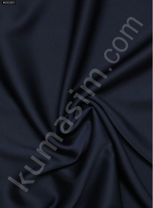 Elbiselik İpeksi Lacivert Likra Saten Kumaş - 3437