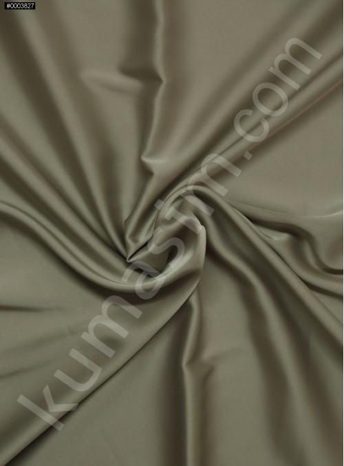 Elbiselik İpeksi Koyu Gri Likra Saten Kumaş - 3437