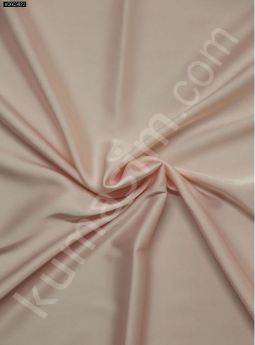 Elbiselik İpeksi Pembe Likra Saten Kumaş - 3437