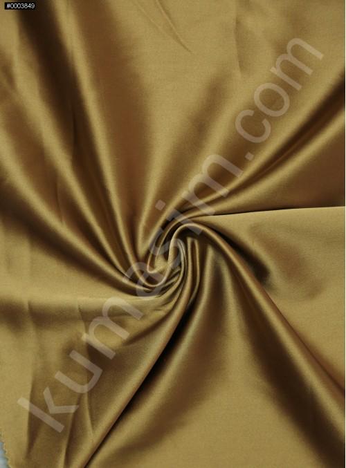 Elbiselik Orijinal Gold Asetat Saten Kumaş - 145 - K3493