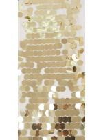 18 MM Büyük Seyrek Payetli Gold Payetli Kumaş - K3518
