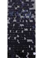 18 MM Büyük Seyrek Payetli Lacivert Payetli Kumaş - K3518