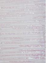 Çizgi Desenli Payetli Kumaş - Hologram - K3522