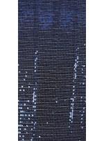 Abiye Elbiselik Sıralı Payetlli Lacivert Kumaş - K3536