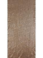 Abiye Elbiselik Sıralı Payetlli Siyah - Gold Kumaş - K3536