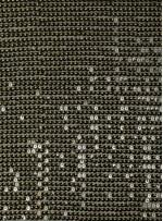 Abiye Elbiselik Sıralı Payetlli Siyah Kumaş - K3536