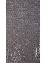 3mm Yoğun Gümüş Payetli Abiye Elbiselik Kumaş - K3560