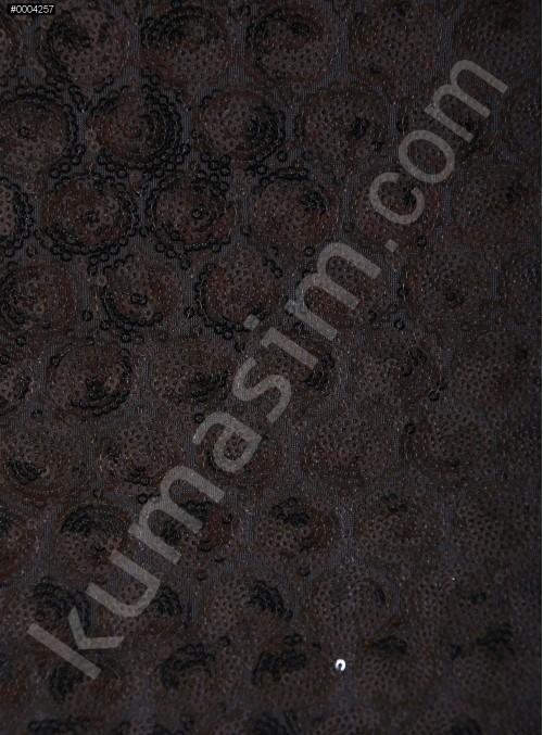 3mm Yoğun Siyah Payetli Abiye Elbiselik Kumaş - K3560