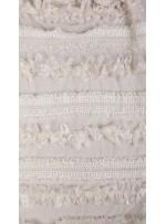 Elbiselik 3 Boyutlu Beyaz Lase Kumaş - K3574