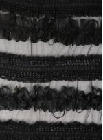 Elbiselik 3 Boyutlu Siyah Lase Kumaş - K3574