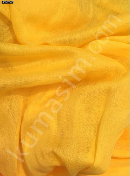 Astarlık Sarı %100 Pamuk Vual Kumaş - K3583