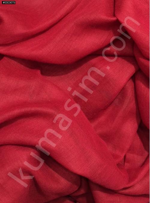 Astarlık Vişne Kırmızı %100 Pamuk Vual Kumaş - K3583