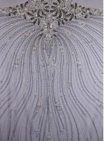 Gelinlik Swarovski Taşlı - Payetli ve Boncuklu Kupon Siyah Gümüş Elbise - A372