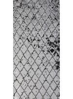 Baklava Desenli Gümüş Payetli Kumaş - K3839