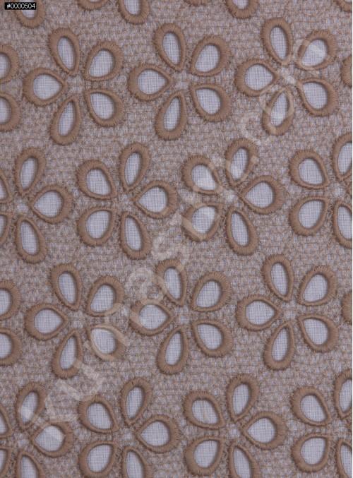 Çiçek Desenli Güpür - Bej - K4045